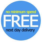 FREE Next Day Delivery - No minimum spend - saving you up to £2.88 with every order