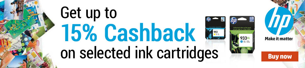 Get up to 15% Cashback on selected inks