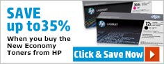 Save up to 30% when you buy the New Economy Toners from HP