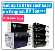 Buy selected Original HP toner and get up to �165 Cashback