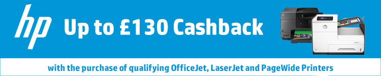 Up to £130 Cashback with the purchase of qualifying OfficeJet, LaserJet and PageWide Printers