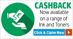 Cashback now available on a range of Inks and Toners