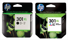 HP 301XL Black Ink and HP 301XL Tri-Colour