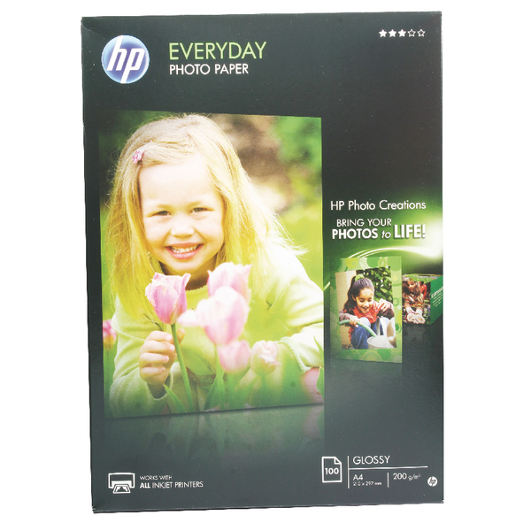 HP Everyday Glossy A4 Photo Paper | Q2510A