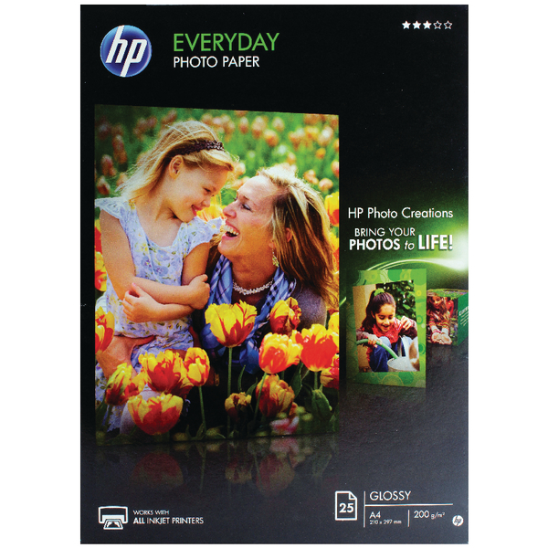 HP A4 Everyday Glossy Photo Paper (Pack of 25) | Q5451A