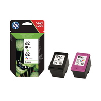 HP 62 Black and Colour Ink Twin Pack