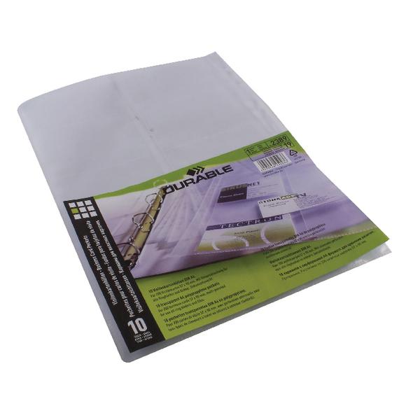 Durable Visifix A4 Business Card Binder Refill Pockets