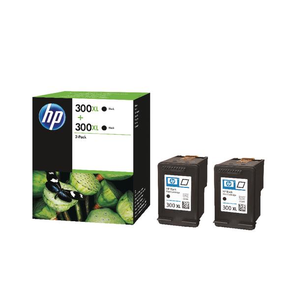 hp 300xl black ink twin pack d8j43ae multipack ink. Black Bedroom Furniture Sets. Home Design Ideas