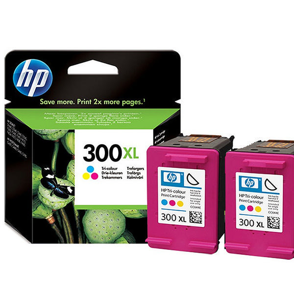 hp 300xl tri colour ink twin pack d8j44ae multipack ink. Black Bedroom Furniture Sets. Home Design Ideas