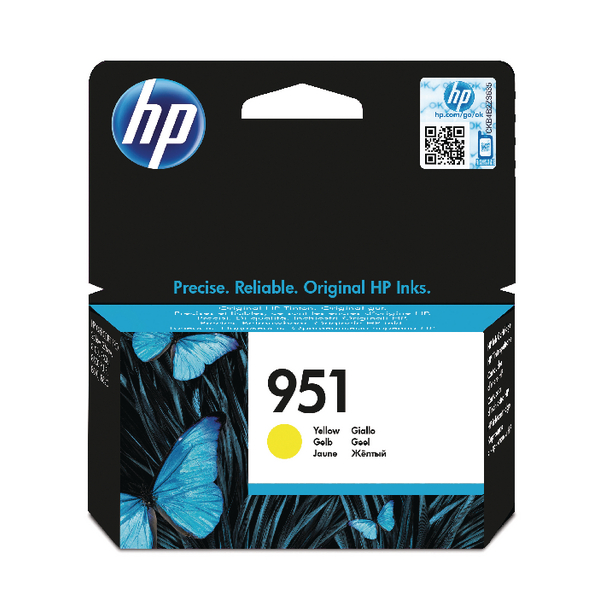 HP 951 Yellow Ink Cartridge | CN052AE