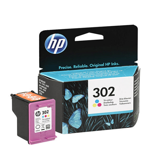 hp 302 tri colour ink f6u65ae ink cartridge. Black Bedroom Furniture Sets. Home Design Ideas