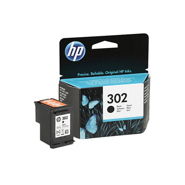 hp 302 black ink f6u66ae ink cartridge. Black Bedroom Furniture Sets. Home Design Ideas