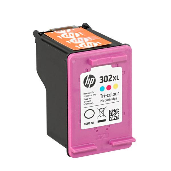 HP 302XL Tri Colour Ink, F6U67AE Ink Cartridge