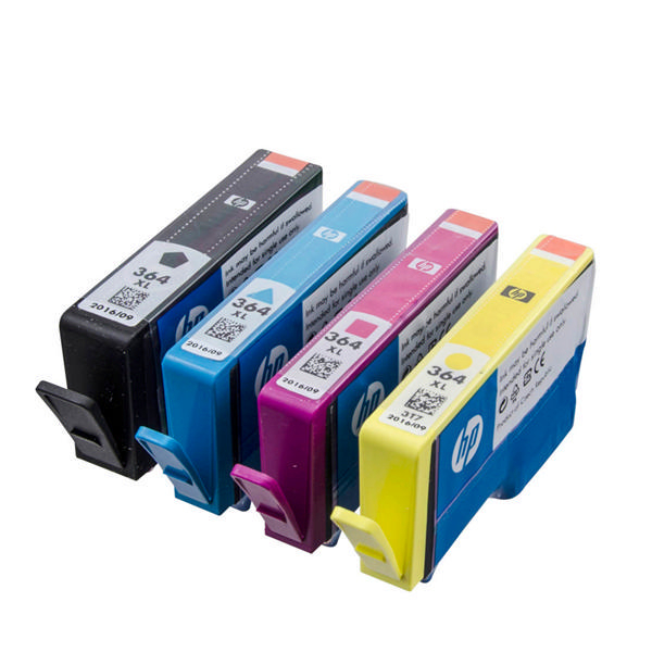 HP 364XL Black and Colour Combo Ink Cartridge 4 Pack | N9J74AE