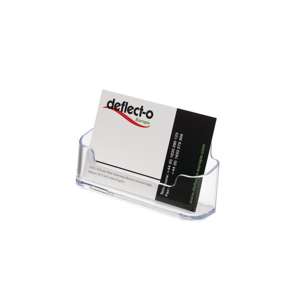 Deflecto Single Desktop Business Card Holder