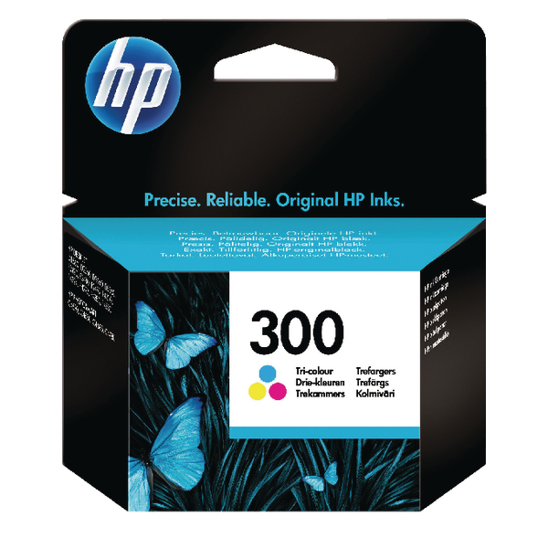 HP 300 Tri-Colour Ink Cartridge| CC643EE