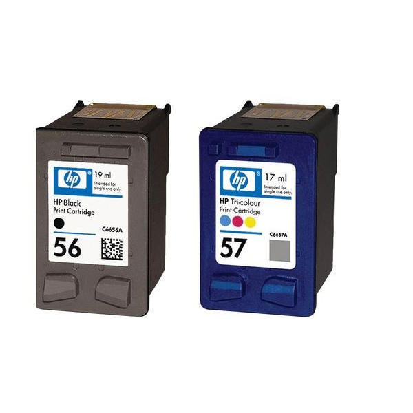 hp 56 57 black colour ink cartridge combo pack sa342ae. Black Bedroom Furniture Sets. Home Design Ideas