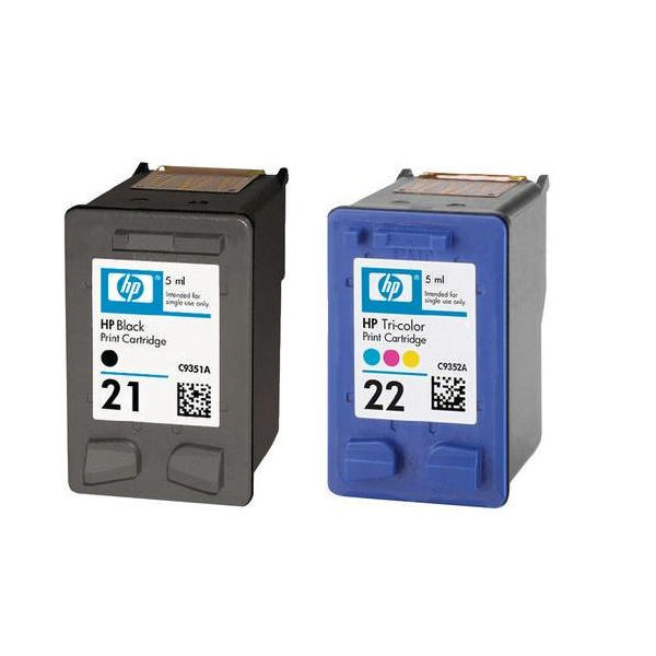 HP 21 & 22 Black and Colour Ink Cartridge Twin Pack | SD367AE